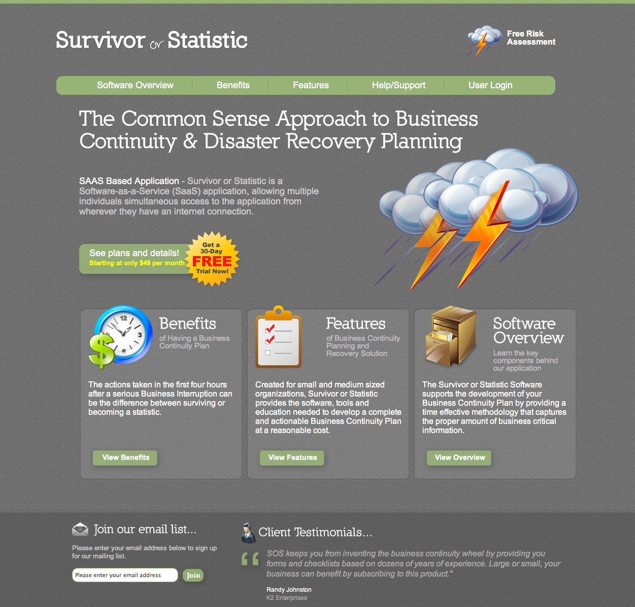 Business Continuity/Disaster Planning Software